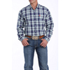 Cinch Men's L/S Plaid Button-Down Shirt - Navy