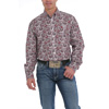 Cinch Men's L/S Paisley Print Button-Down Shirt - White