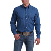 Cinch Men's L/S Print Shirt - Blue
