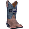Dan Post Children's Thin Blue Line Cowboy Boots - Sand