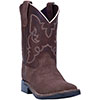 Dan Post Children's Davie Cowboy Boots - Brown Suede
