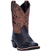Dan Post Youth's Little River Cowboy Boots - Black/Brown
