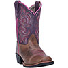 Dan Post Youth's Majesty Boots - Brown/Purple