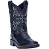 Dan Post Youth's Al E. Gator Cowboy Boots - Black