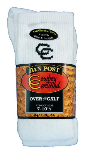 Dan Post Cowgirl Certified Over the Calf Boot Socks - White