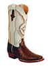 Ferrini Ladies Caiman Belly Western Boots - Chocolate/Pearl