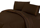 Embroidered Barbed Wire Sheet Set - Chocolate