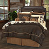 Embroidered Barbed Wire Comforter Set - Chocolate