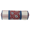 Bandera Neckroll Pillow - Red/Blue/Vintage White