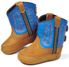 Old West Infants Poppets - Lt Distress/Electric Blue
