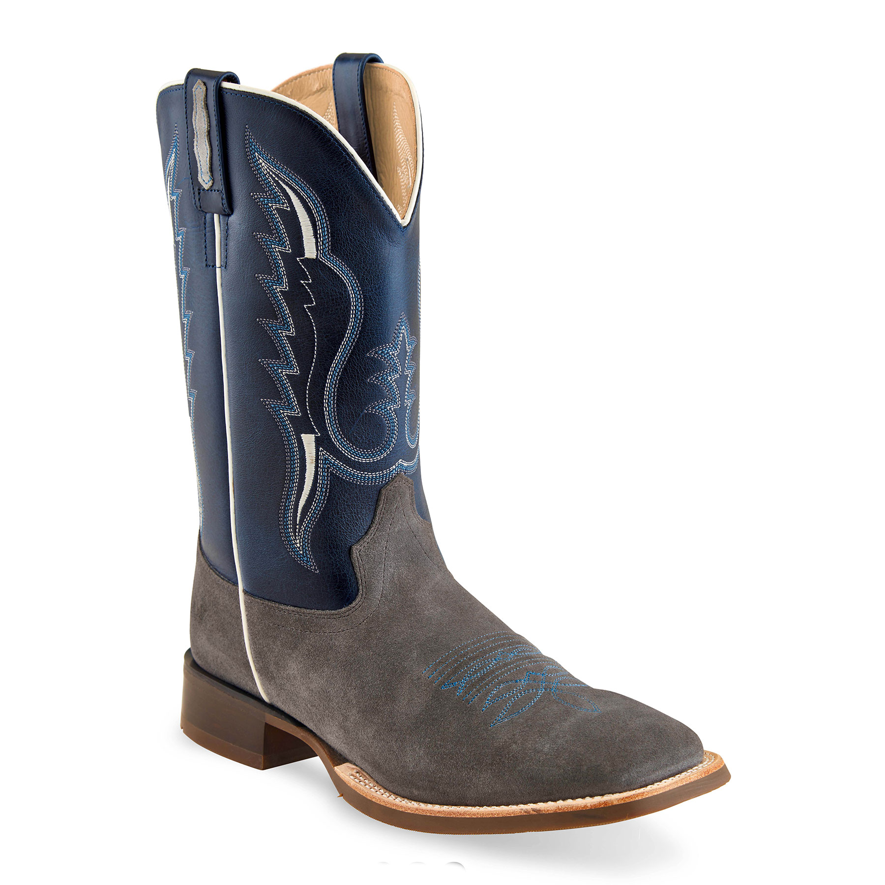 Old West Men's Broad Square Toe Boots