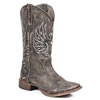 Roper Ladies Eagle Wings Square Toe Boots - Sanded Brown