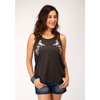 Stetson Ladies Jersey Knit Tank Top - Charcoal Grey
