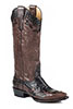 Stetson Ladies Bailey Tall Boots w/Basketweave & Zipper - Brown