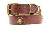 Nocona Shotgun Shell Dog Collar - Brown