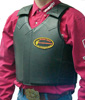 Saddle Barn Adjustable Leather Bull Riding Vest - Adult Size
