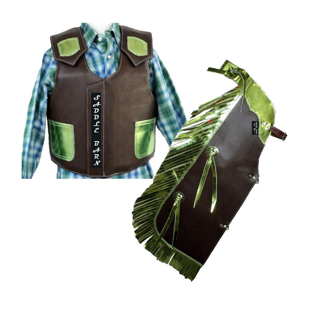 Pungo Ridge Children S Faux Leather Rodeo Chaps Vest