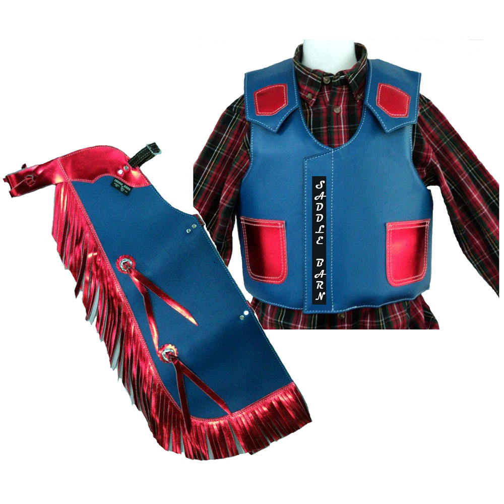 Pungo Ridge Children S Faux Leather Rodeo Chaps Vest