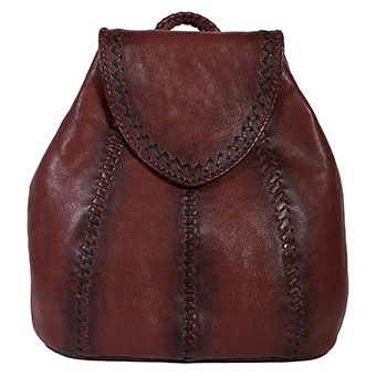 Scully Ladies Leather Backpack w/Whipstitching
