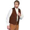 Men's WAH MAKER Leather Range Vest - Brown