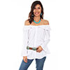 Scully Honey Creek Off Shoulder Top - White