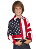 Scully Kids' RangeWear Long Sleeve Star & Flag Shirt