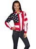 Scully Ladies RangeWear Long Sleeve Shirt w/Embroidered Star & Flag