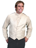 Men's RangeWear Shawl Collar Scroll Vest - Cream
