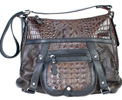 Scully Crocodile Print Handbag