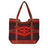Scully Ladies' Woven Handbag W/Leather Back - Multi