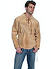 Scully Men's Boar Suede Mountain Man Shirt - Bourbon