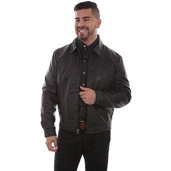 Scully Men's Basic Contemporary Western Jacket - Black Lamb