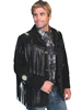 Scully Men's Boar Suede Fringed Jacket - Black