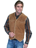 Scully Men's Boar Suede Fleece Vest - Cafe Brown