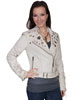 Scully Ladies Lamb Motorcycle Jacket - Sand