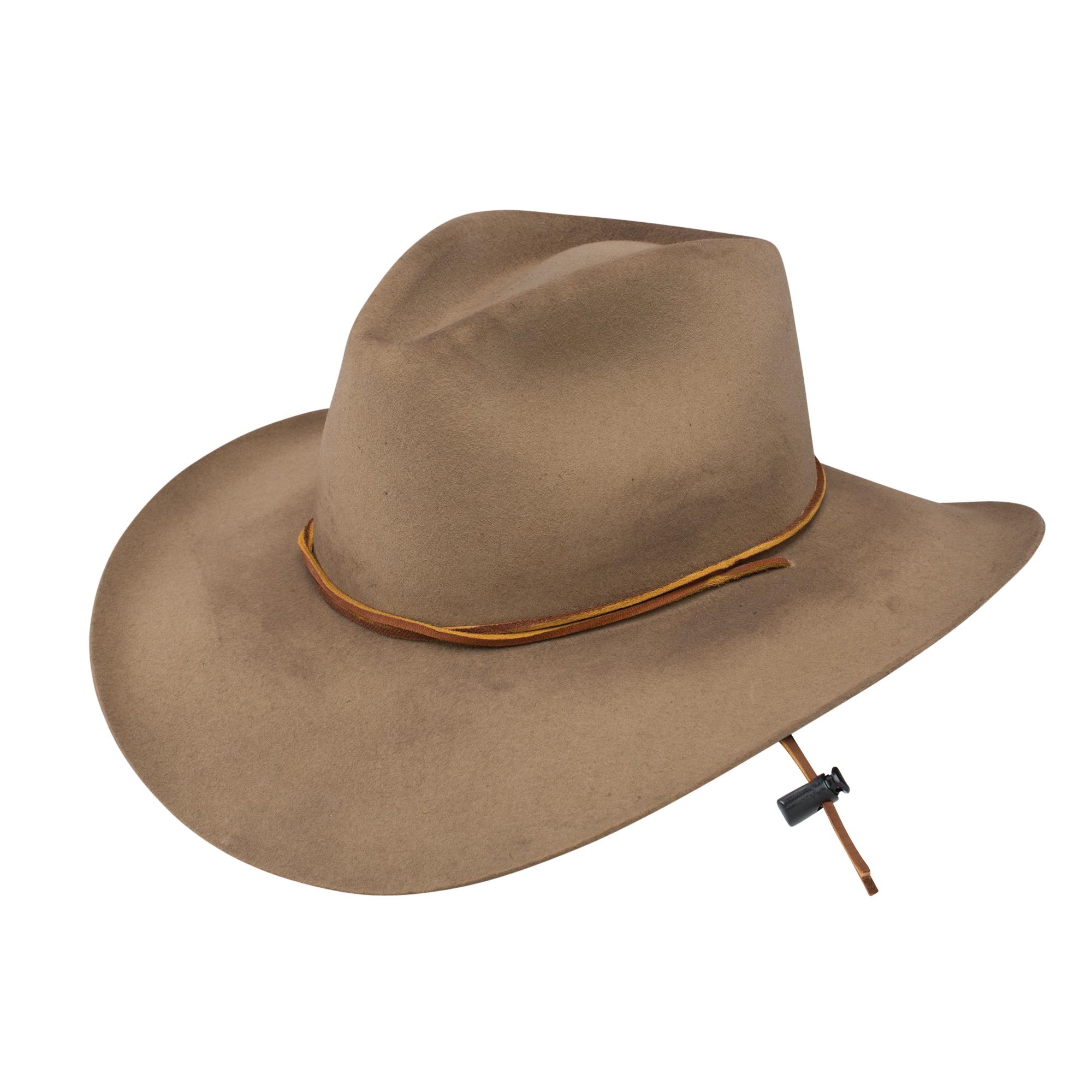 C-01-L Large Ariat Kids 6X Fur Felt Cowboy Genuine Goat Leather Hat Black