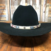 Hand Hitched Horse Hair Hatband - Aztec